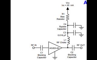 AG203-63异质结双极晶体管缓冲放大器的详细数据手册免费下载