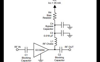 ECG004异质结双极晶体管增益放大器详细数据手册免费下载