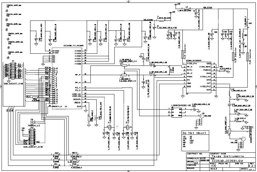 CC2530和CC2591EMK评估模块设计的示意图和布局文件详细资料免费下载