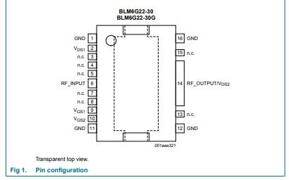 BLM6G22-30和BLM6G22-30G LDMOS2级功率MMIC数据手册免费下载