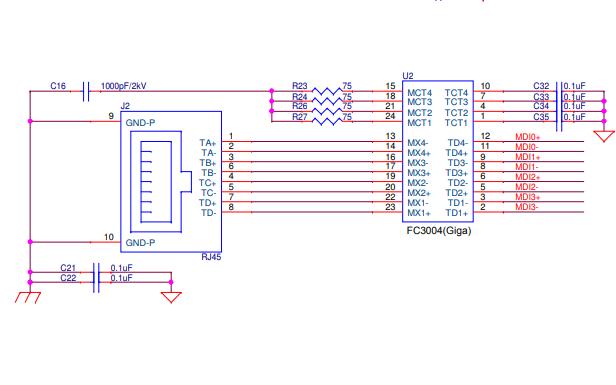 ATHEROS的AR8031和AR8033网口芯片的详细电路图免费下载