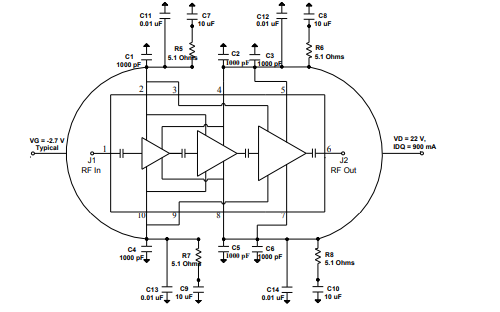 TGA2239 Ku波段高功率MMIC放大器的详细数据手册免费下载