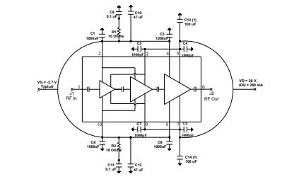 TGA2623氮化鎵功率放大器的詳細數據手冊免費下載