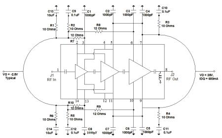 TGA2238 氮化鎵功率放大器的詳細數據手冊免費下載