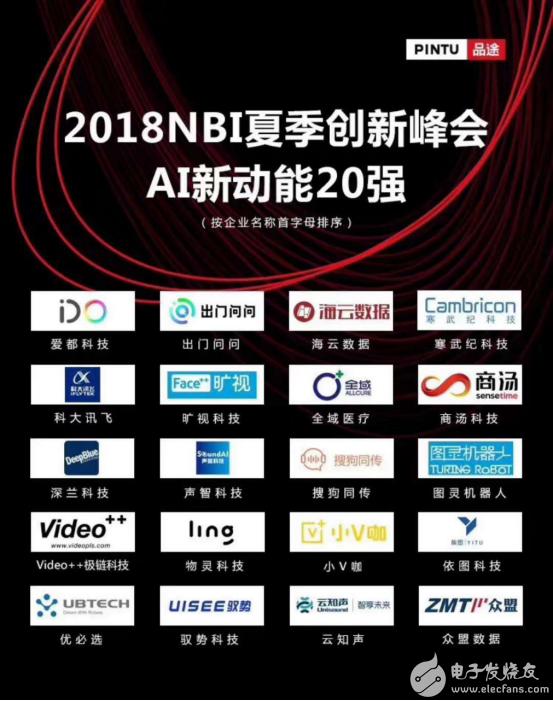 深兰科技荣获2018NBI夏季创新峰会「AI 新动能20强」
