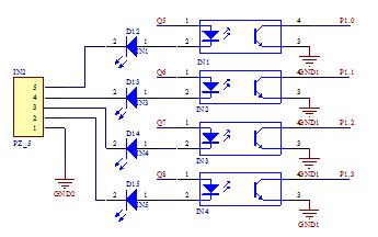 输入输出继电器工控板全隔离原理图详细资料免费下载