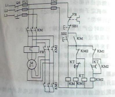 星三角启动是通过改变电机三相绕组的接线方式降压启动.