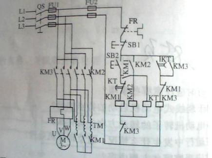 自耦星三角降压启动电路图详解