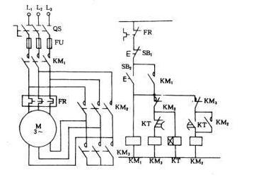 星三角降压启动电气原理图画法大全 - 电动机控制电路