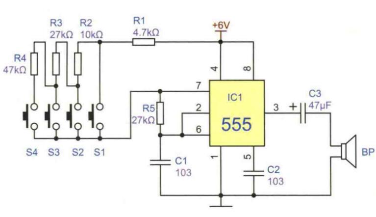ne555电子琴电路图制作