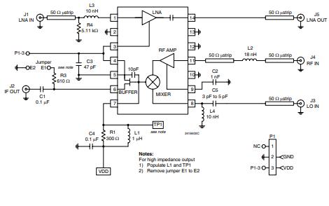 RF2418低电流低噪声放大器的详细数据手册免费下载