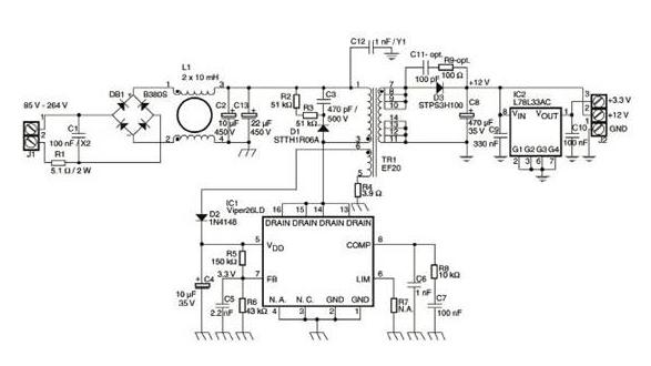 关于VIPER26LD的隔离反激式电源设计方案