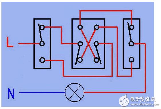 什么叫做左零右火 三开多控开关接线图详解