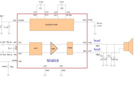 NS4818多级恒定输出功率G类音频功率放大器的中文数据手册免费下载