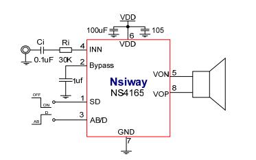 NS4165音频放大器的详细数据和用户使用手册资料免费下载