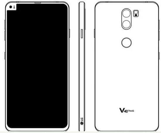 "LG V40 ThinQ疑似采用""偏刘海""设计"
