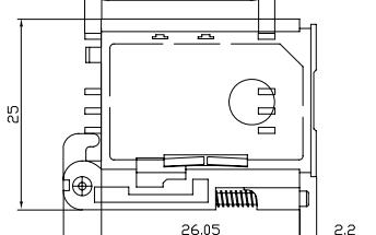 工业产品抽屉式SIM卡座SIM-121的详细原理图资料免费下载