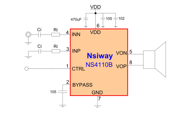 NS4110B音频功率放大器的详细中文数据手册免费下载