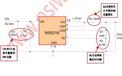 NS6316高电压输入的同步降压电源管理芯片详细中文数据手册免费下载