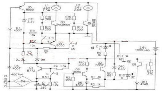 斷電應急燈的工作原理與維修