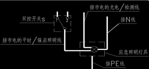 應急燈開關接線圖解(5款開關接線電路)