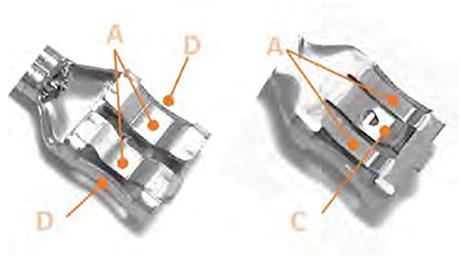 F弹簧触点FASTON端子的板簧辊提供高法向力