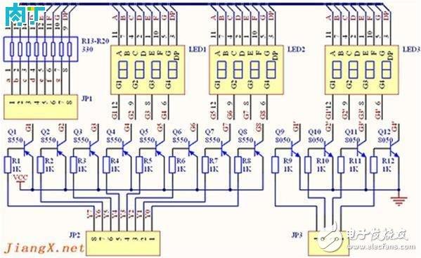 数码管显示电路的设计及制作
