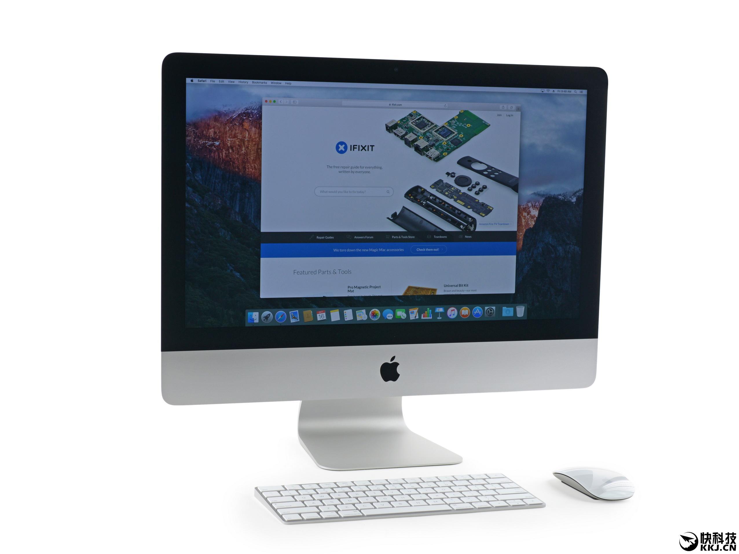 imac4k拆机图解 显示屏与玻璃合为一体