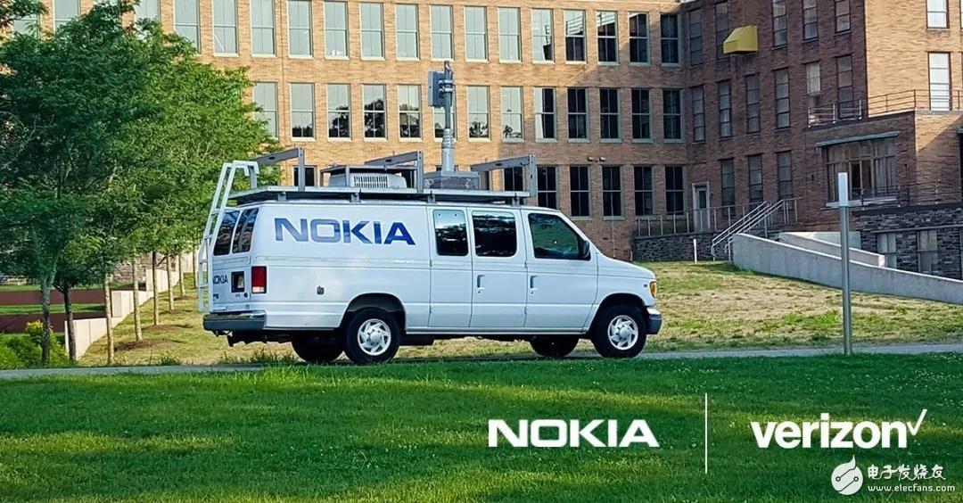 诺基亚与Verizon成功将3GPP无线接入(NR)5G信号传输至移动的车辆中