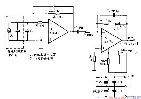 加速度傳感器測速原理及電路圖