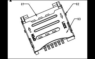 翻盖式手机MICRO SIM卡座SMC-216的详细原理结构图资料免费下载