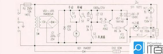 电热水壶保温原理及电路分析