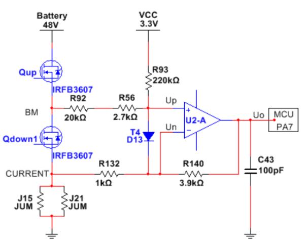 PMSM電機磁場定向控制器的電流采集硬件電路