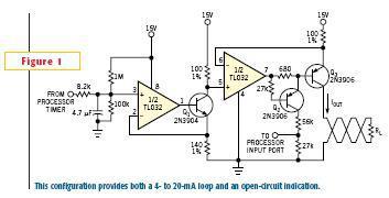 微控制器可提供4到20mA回路电路的解决方案