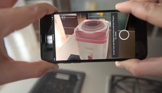谷歌发布了AR软件,用户可以从手机中观看购物