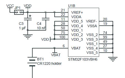 STM32最小系统STM32F10XXX单片机原理参考电路图