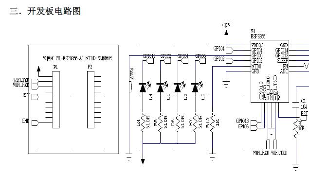 基于ESP8266芯片方案的WIFI开发板的详细介绍和使用说明资料概述