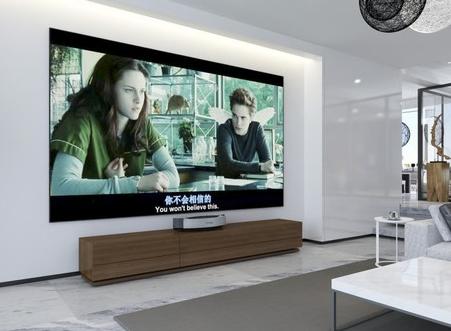 在电视消费大屏化的趋势下,激光电视成市场新宠