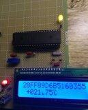 一个ds18b20采集和64位光刻ROM读出的小...