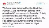 行业快讯:澳大利亚禁止华为5G、联通开启5G规模...