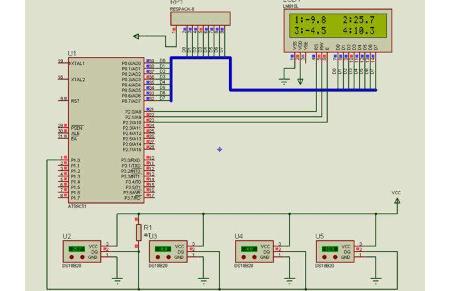 多功能数字电子钟设计之18B20温度传感器在1602液晶静态显示资料概述