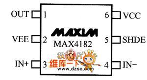 MAX4182的管脚图与MAX4182的应用电路图