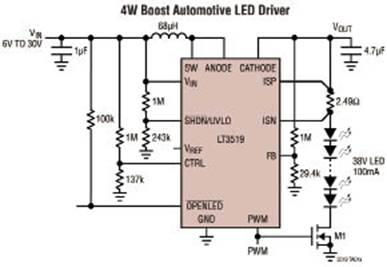 4W和2.4W的LED驱动IC在LCD显示器中应用