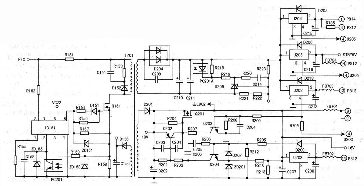 长虹PT32618型等离子彩电开机后整机不工作的检修分析