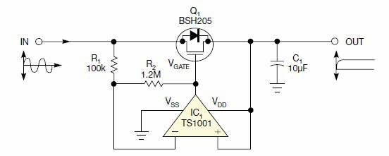 怎么用自供電運放建立一個低泄漏整流器