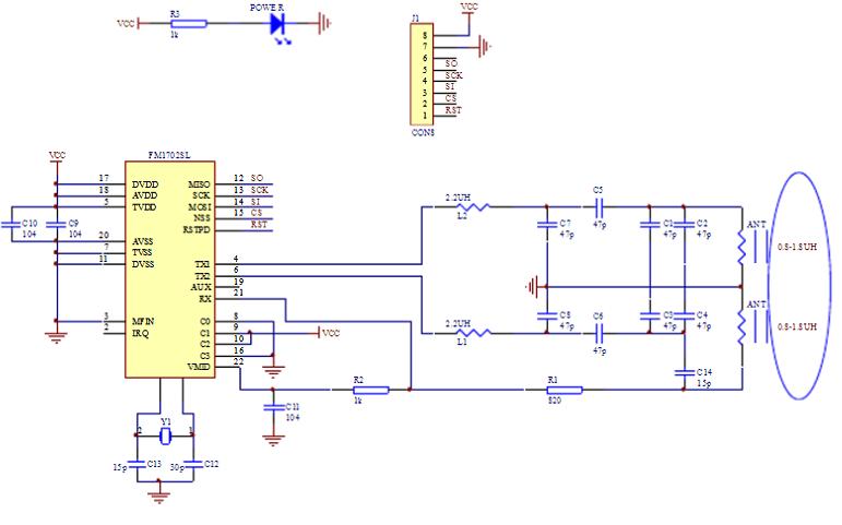 FM1702的详细电路图原理图详细资料免费下载