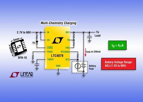 凌力爾特LTC4079電池充電器的特點分析