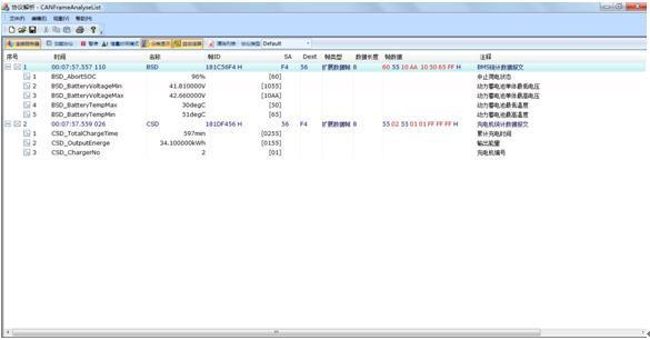 CANScope分析仪与电动汽车之间的协议解析