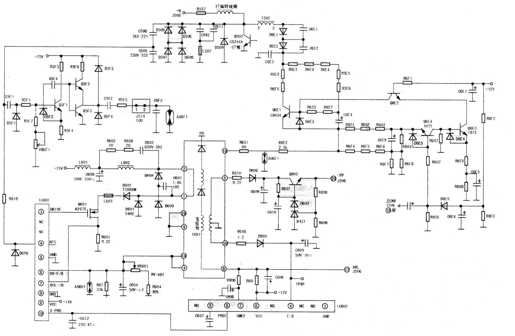 三菱RD21GX彩显的故障现象及检修分析