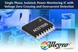 Allegro最近推出一款完全集成的小尺寸电源监控IC ACS71020